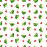 Seamless pattern with emerald diamond and hearts. Seamless pattern with diamond and hearts Royalty Free Illustration