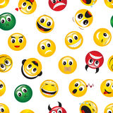 Seamless pattern with emoticons Stock Photography