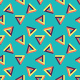 Seamless pattern of endless triangles. Stock Images