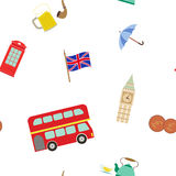 Seamless pattern with england icons Stock Image