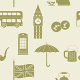 Seamless pattern with england icons Royalty Free Stock Image