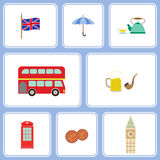 Seamless pattern with england icons Royalty Free Stock Photos