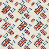 Seamless pattern, England theme Royalty Free Stock Images