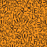 Seamless pattern english alphabet Royalty Free Stock Photo