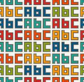Seamless pattern with english A, B, C letters. Colorful pattern with font characters for children. Typography wallpaper. Royalty Free Stock Photography