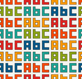 Seamless pattern with english A, B, C letters. Colorful pattern with font characters for children. Typography wallpaper. Stock Photos