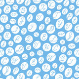 Seamless pattern with English cursive letters. Stock Image