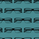 Seamless pattern with engraving eye glasses. fashion background Stock Photography