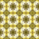 Seamless pattern with entwined metal stars Stock Images