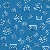 Seamless pattern with envelopes Royalty Free Stock Photos