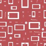 Seamless IT pattern Stock Photo