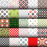 Seamless pattern. EPS 10  illustration. used for printing, websites, design, interior, fabrics, etc. 25 patterns set of poke Stock Photography