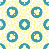 Seamless pattern. EPS 10 illustration. used for printing, websites, design, interior, fabrics, etc. poker card game gamblin. Seamless pattern. EPS 10 royalty free illustration