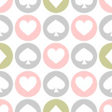 Seamless pattern. EPS 10  illustration. used for printing, websites, design, interior, fabrics, etc. White spades, hearts an. Seamless pattern. EPS 10 Royalty Free Stock Photos