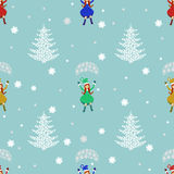 Seamless pattern. EPS 10  illustration. used for printing, websites, design, ukrasheniayya, interior, fabrics, etc. Christma Royalty Free Stock Image
