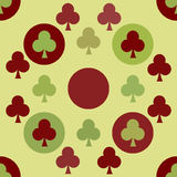 Seamless pattern. EPS 10  illustration. used for printing, websites, design, ukrasheniayya, interior, fabrics, etc. poker ca Stock Photo