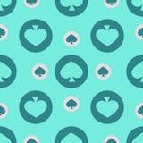 Seamless pattern. EPS 10  illustration. used for printing, websites, design, ukrasheniayya, interior, fabrics, etc. Poker Ca Stock Images