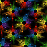 Seamless pattern with equalizers Royalty Free Stock Photo
