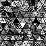 Seamless pattern of equilateral triangles Stock Photography