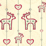 Seamless pattern with ethnic Christmas decoration Stock Image