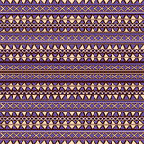 Seamless pattern ethnic design Stock Photos