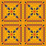 Seamless pattern with ethnic elements. Geometrical royalty free illustration