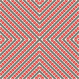 Seamless pattern with ethnic geometric abstract ornament. Cross stitch slavic embroidery motifs. Royalty Free Stock Photography