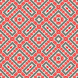 Seamless pattern with ethnic geometric abstract ornament. Cross stitch slavic embroidery motifs. Royalty Free Stock Image