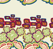 Seamless pattern with ethnic Indian symbols. EPS10 vector illustration. Royalty Free Stock Photo