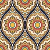 Ethnic seamless pattern. Seamless pattern with ethnic mandala ornament. Hand drawn vector illustration Stock Image