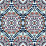 Ethnic seamless pattern. Seamless pattern with ethnic mandala ornament. Hand drawn vector illustration Stock Photos