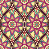 Ethnic seamless pattern. Seamless pattern with ethnic mandala ornament. Hand drawn vector illustration Stock Images