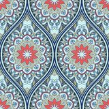 Ethnic seamless pattern. Seamless pattern with ethnic mandala ornament. Hand drawn vector illustration Royalty Free Stock Photography