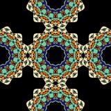 Seamless Pattern of Ethnic Mandala Ornaments Stock Photos