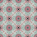 Seamless pattern with ethnic multicolor ornament Royalty Free Stock Images