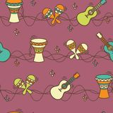 Seamless pattern - ethnic music Royalty Free Stock Images