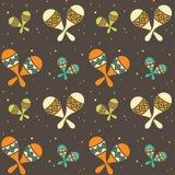 Seamless pattern - ethnic music. Background illustration. EPS 10 Stock Photo