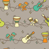 Seamless pattern - ethnic music Stock Photography