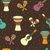 Seamless pattern - ethnic music Royalty Free Stock Image