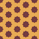 Seamless pattern with ethnic rosettes on a sand background Royalty Free Stock Images