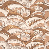 Seamless pattern with ethnic sea ornament Royalty Free Stock Photos