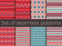 Seamless pattern in ethnic style. Tribal seamless texture, style hippie. Retro colors. Boho stripes. Vector Royalty Free Stock Image