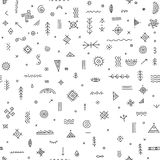 Seamless pattern with ethnic tribal symbols Royalty Free Stock Photo