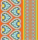 Seamless pattern with ethno motives Royalty Free Stock Photography