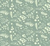 Seamless pattern of Eucalyptus palm fern different tree, natural Royalty Free Stock Photos