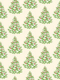 Seamless Pattern with Evergreen Christmas Tree Pine Fir  Royalty Free Stock Photos