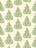 Seamless Pattern with Evergreen Christmas Tree Pine Fir. Seamless Pattern with Decoration Evergreen Christmas Tree Pine  on Beige Background Royalty Free Stock Photos