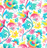 Seamless pattern with exotic flowers in Chinese style. Seamless pattern with fantastic exotic flowers in Chinese style. Luxury ornament. Bright floral Royalty Free Stock Image