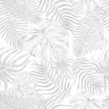 Seamless pattern with exotic leafs Stock Photos