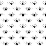 Seamless pattern with eye Royalty Free Stock Image
